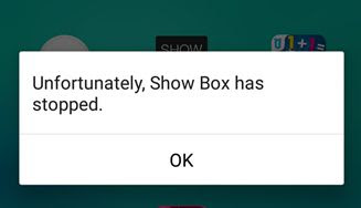 Showbox Has Stopped