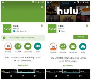 install hulu android app